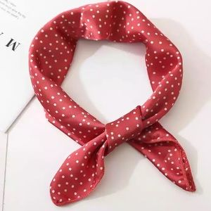 Accessories - Red & White Polka Dot Neck Scarf